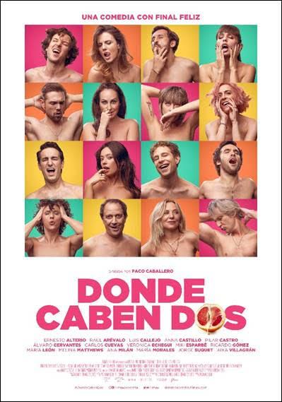 Póster oficial de «Donde caben dos», la nueva comedia de Paco Caballero