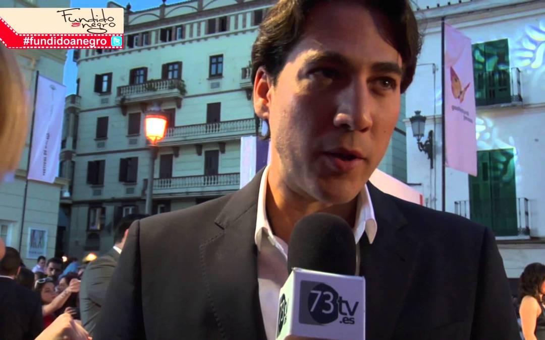 Alberto Amman en la alfombra roja del 18 Festival de Cine de Málaga