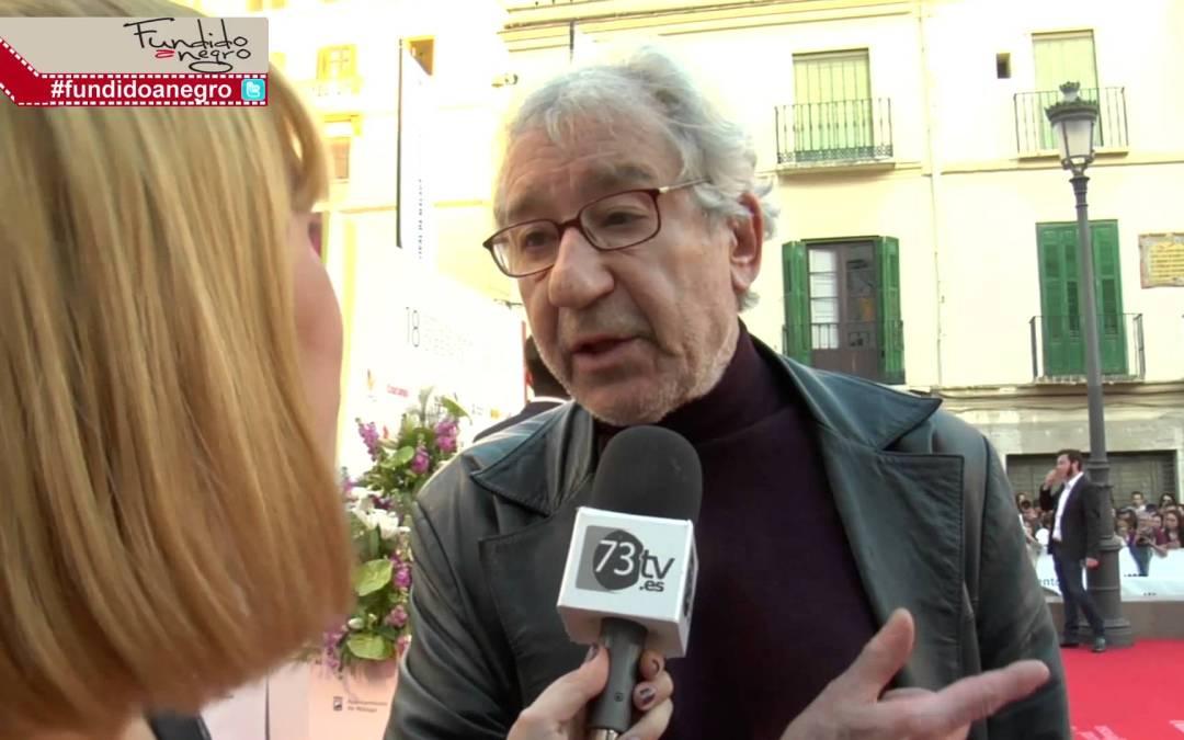 José Sacristán en la alfombra roja del 18 Festival de Cine de Málaga