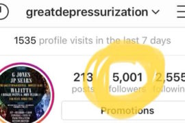 Great Depressurization 5000 Follower Club 775 Media De La Rosa Productions Instagram May 2019 copy