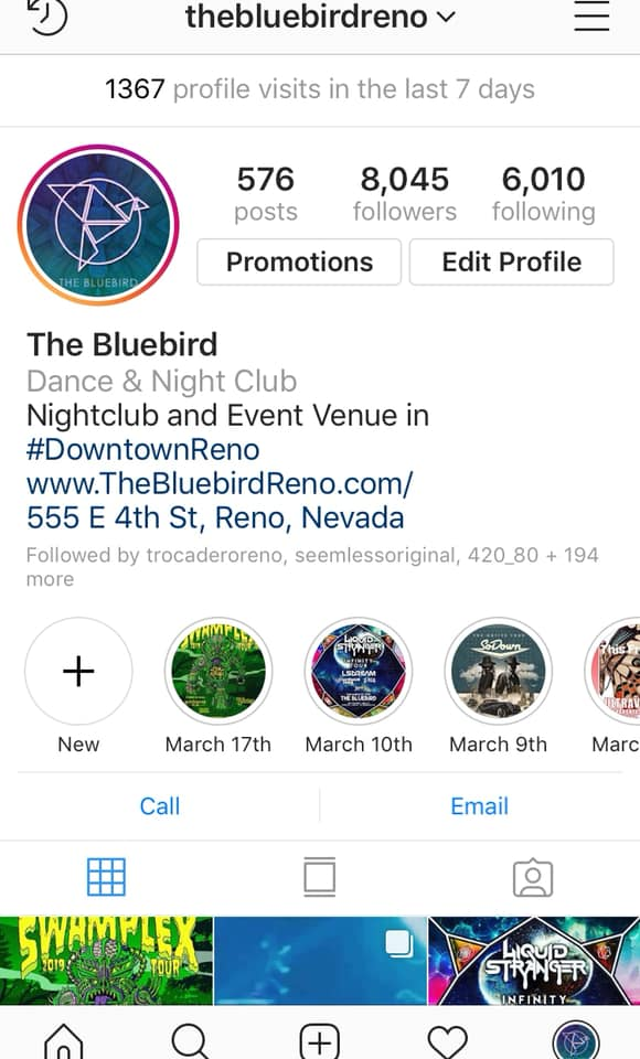 The Bluebird 5000 Follower Club 775 Media De La Rosa Productions Instagram May 2019