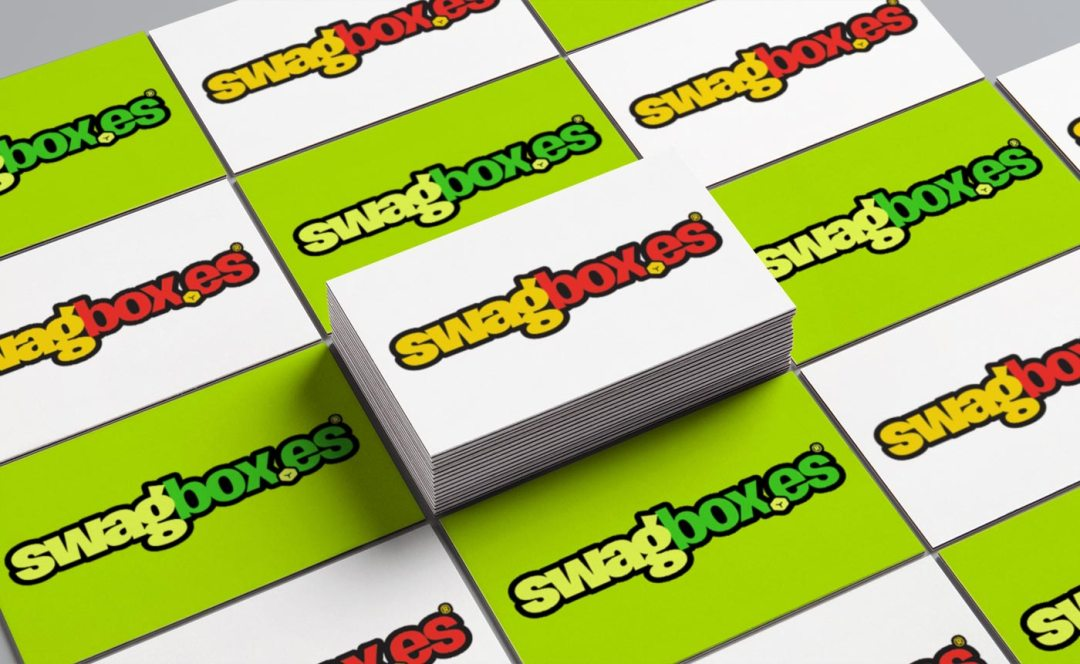 Logo design for Swagboxes on business cards