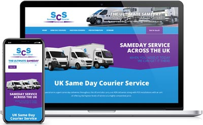 SCS Sameday Couriers webiste