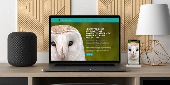 Powerbook with website design on.