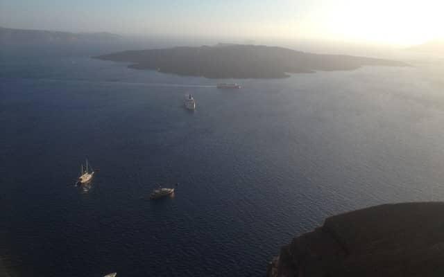 Vista da caldera, Santorini.