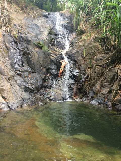 Waterfall on the way to Nacpan Beach, El Nido.