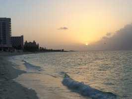 Sunset at Paradise Island.