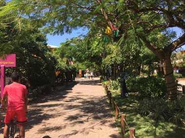 The main street of the village, Praia do Forte, Bahia.