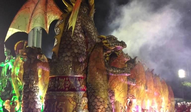 Primera vez desfilando en el carnaval
