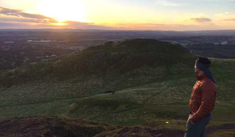 Sunrise at Arthur's seat.