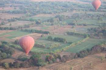 passeio de balão em Bagan