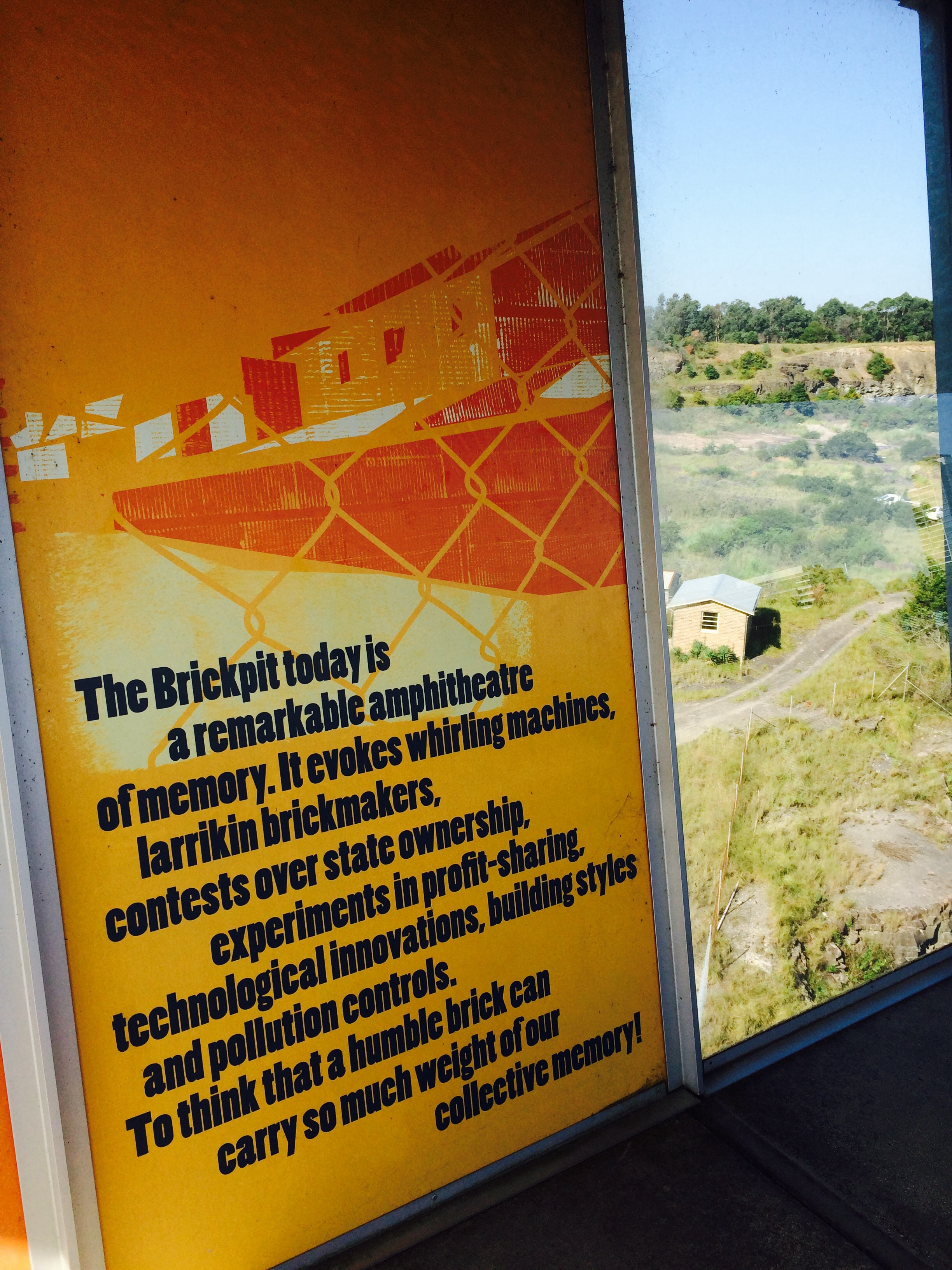 The Information Walls Encircling Ring Give A Concise Summary Of History State Brickworks From Its Establishment In 1911