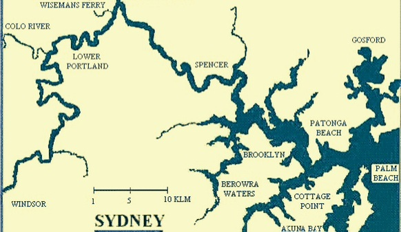 The Hawkesbury A Not So Close Encounter With Napoleonic France - Colo river map