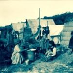 Māori village, early 20th century