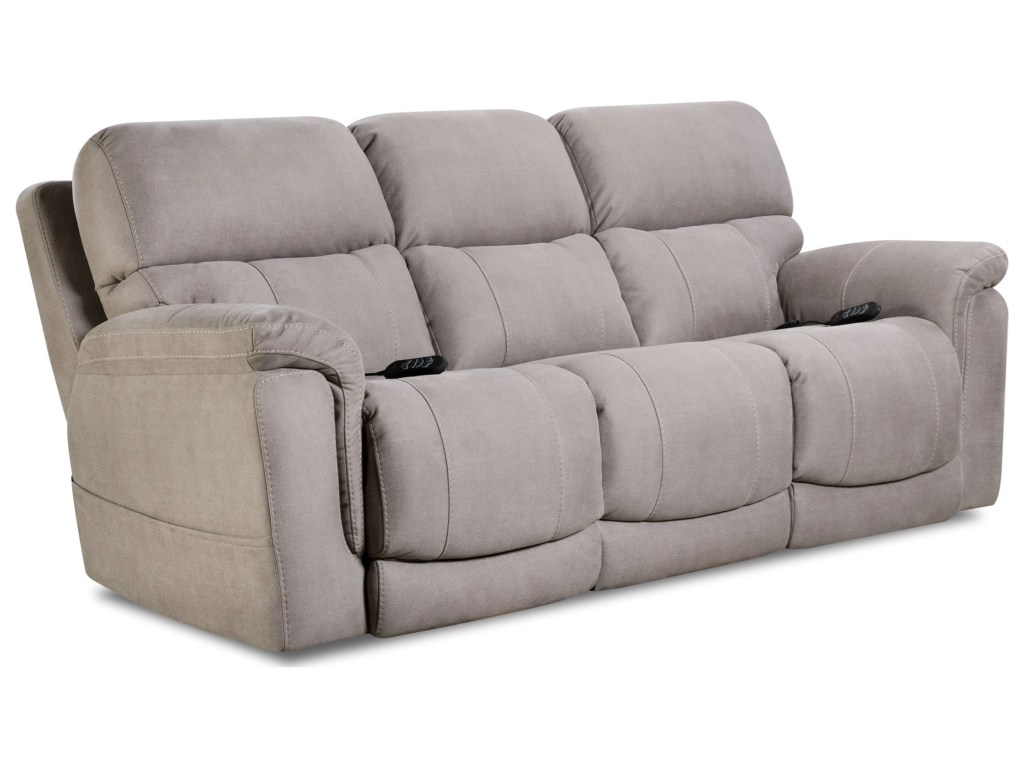 triple reclining sofa media room sectionals homestretch tuscon dove power and