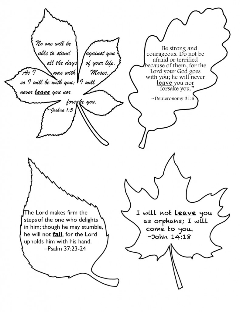 Fall Promises (Printable)