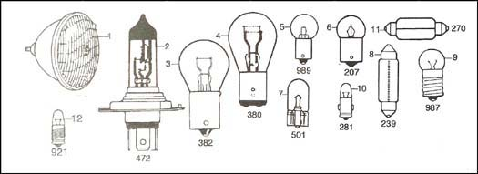 Diagram, Electrical, Bulbs