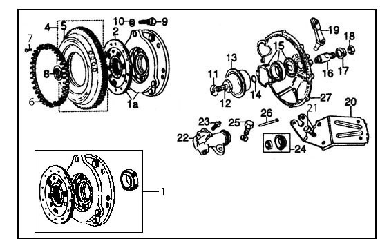 Diagram, Clutch & Flywheel, Verto
