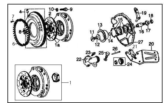 Diagram, Clutch & Flywheel, Verto