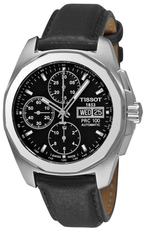 Hombres Tissot PRC 100 T0084141605100 Cronógrafo Negro esfera del reloj