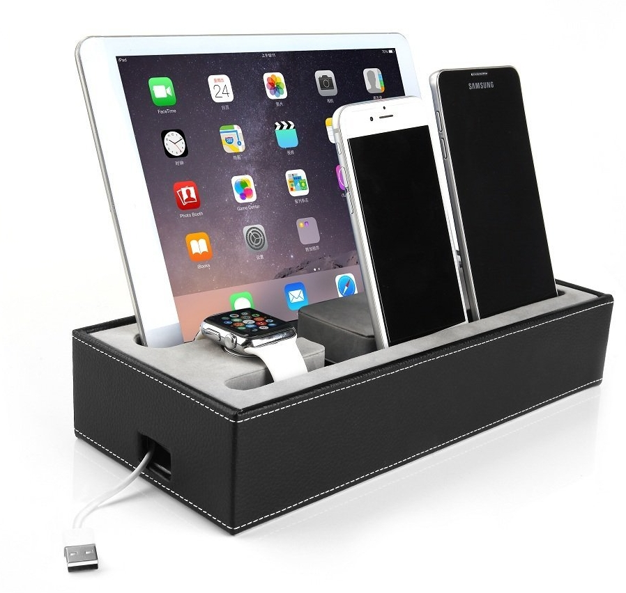 apple watch stand iphone ipad charging station multiple. Black Bedroom Furniture Sets. Home Design Ideas
