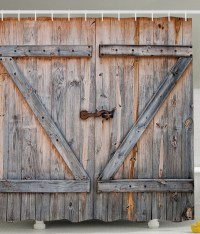 Old Wooden Garage Door American Country Style Decorations ...