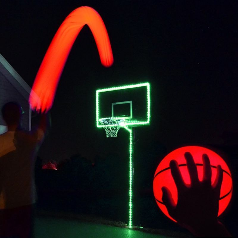 led tape kitchen french country decor light up basketball hoop kit with