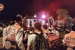 Место теракта в Тель-Авиве