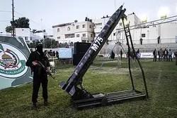 Hamas terrorist with domestically made M75 rocket