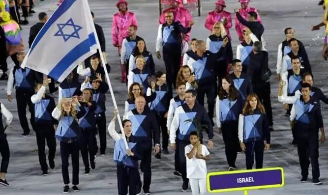 Сборная Израиля на церемонии открытия Олимпиады