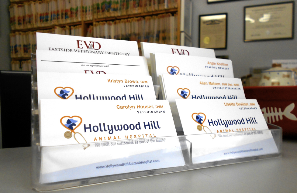 Hollywood Hill Animal Hospital Business Cards