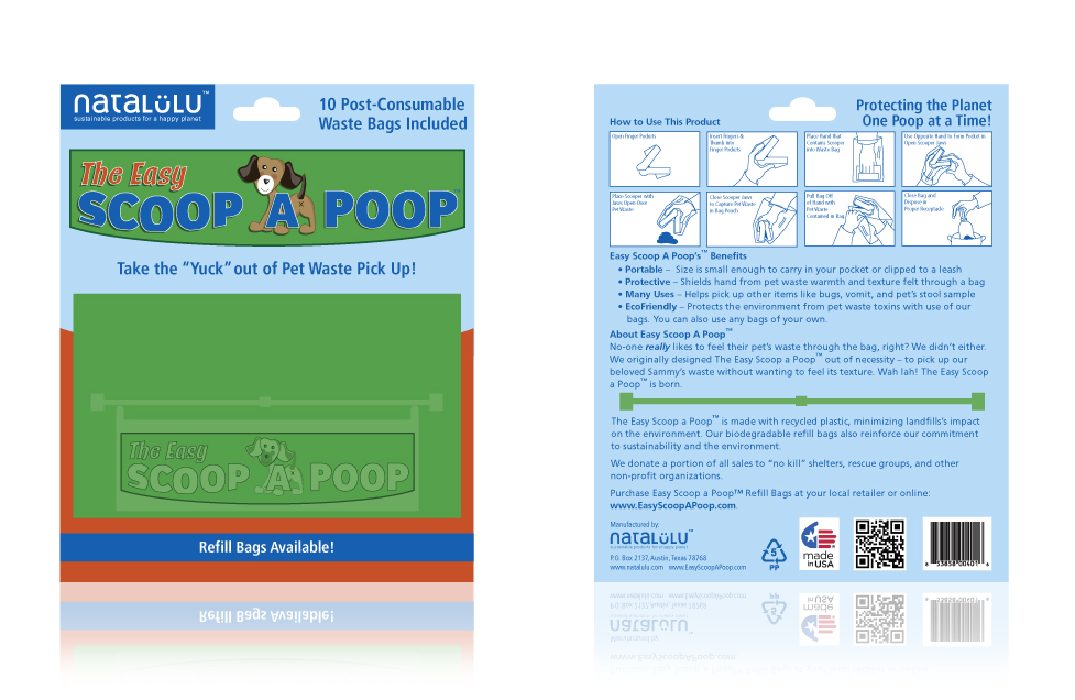 Easy Scoop a Poop Package Design by Dara Chilton with 7 Lucky Dogs Creative