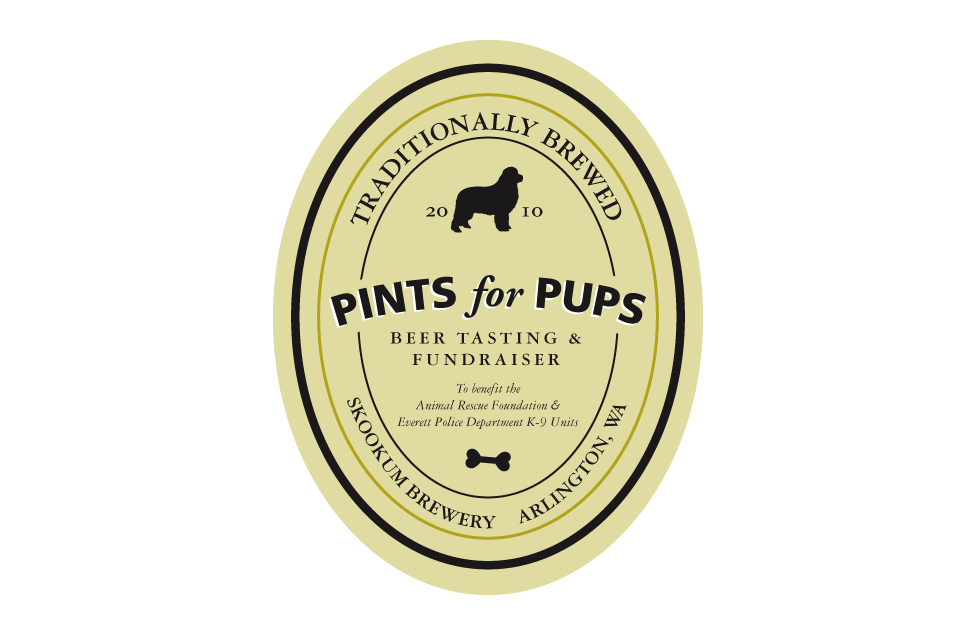 Pints for Pups Identity by Dara Chilton with 7 Lucky Dogs Creative