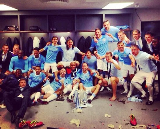 Man City kick off League Cup celebrations as huge fan Noel Gallagher joins the party
