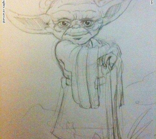 Doodle Yoda