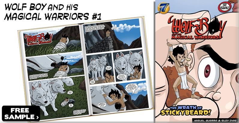 Free Sample Wolf Boy & the Wrath of Stickybeard