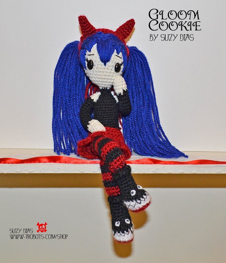 Gloom Cookies Handmade Doll by Suzy Dias