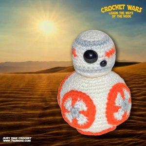Crochet Star Wars Amigurumi BB-8 by Suzy Dias
