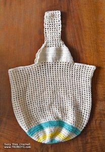 Suzy Dias Crochet Shopping Bag to Paris