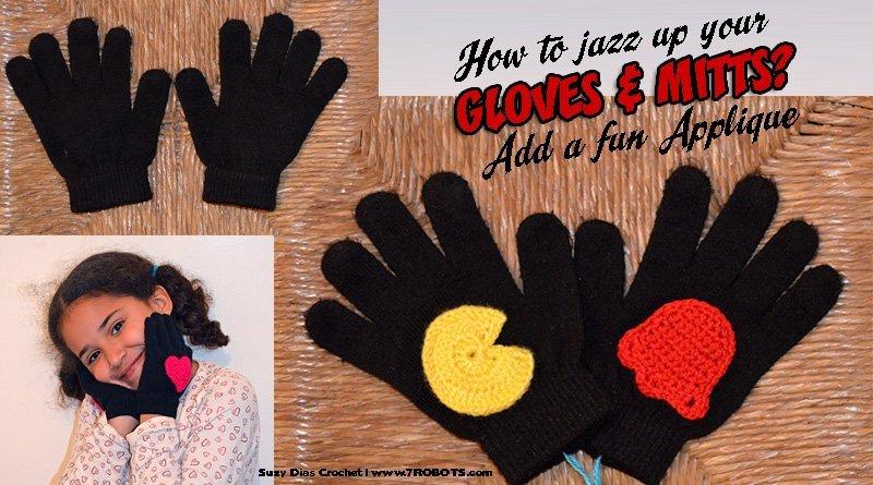 Suzy Dias Pac-Man applique for gloves