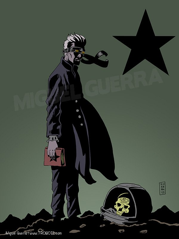 David Bowie Black Star Poster by Miguel Guerra