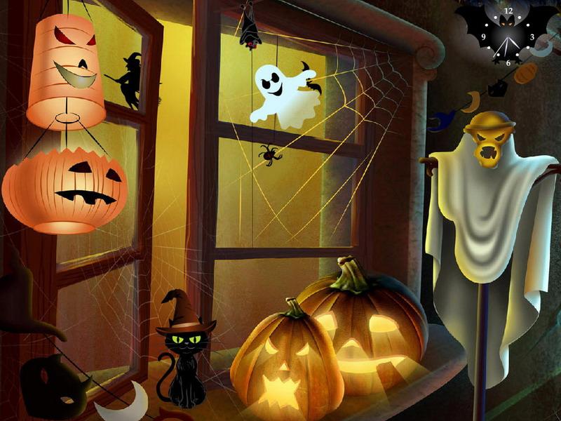 Cool Windows Xp Wallpapers 3d Halloween Again Free Halloween Screensaver
