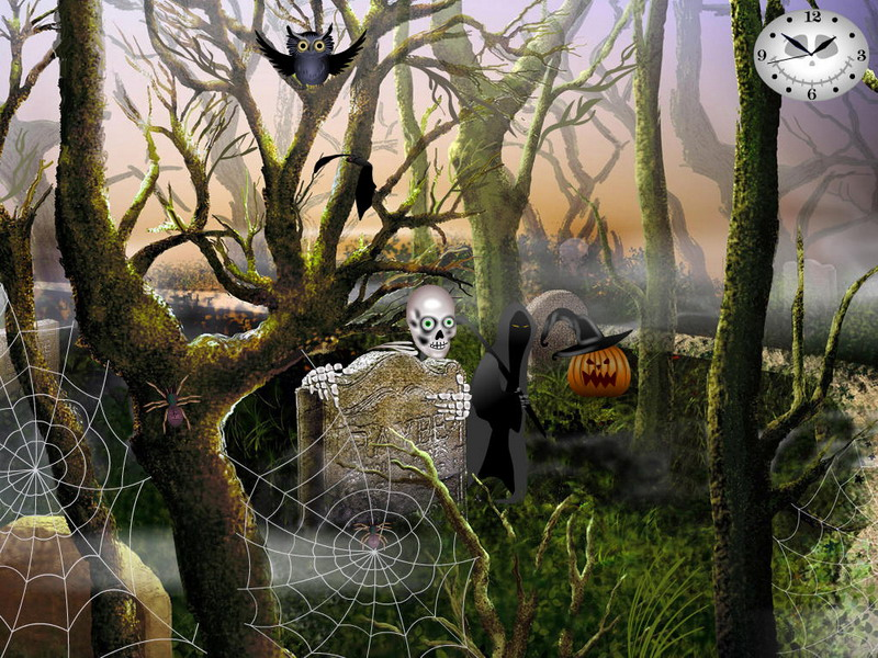 3d Animated Wallpapers For Windows Xp Free Download Graveyard Party Free Halloween Screensavers