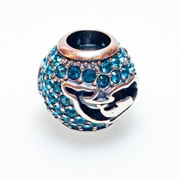 Turquoise Waters Dolphin Bead - 7SEASJewelry