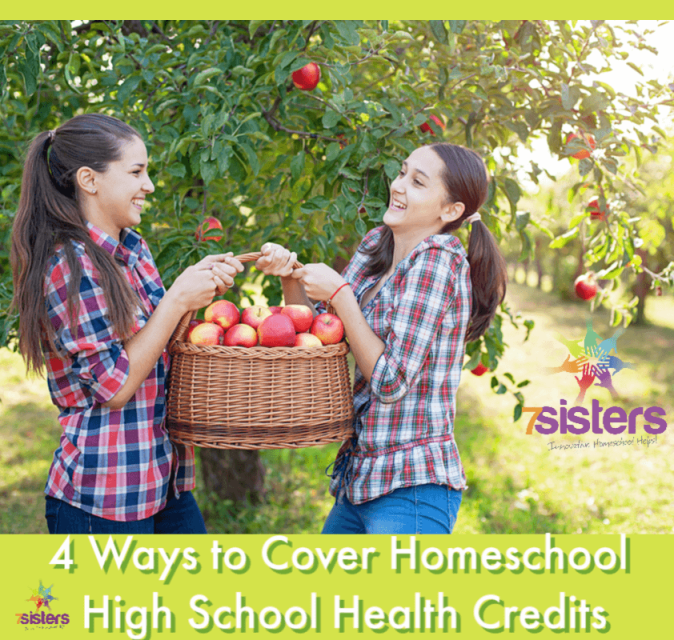 4 Ways to Cover Homeschool High School Health Credits. There's not ONE right way to homeschool high school and there's not ONE right way to earn the required health credit for the homeschool transcript. Here are 4 ways that work! #HomeschoolHighSchool #HighSchoolHealthCredit #HealthCredit #HomeschoolHealthCurriculum
