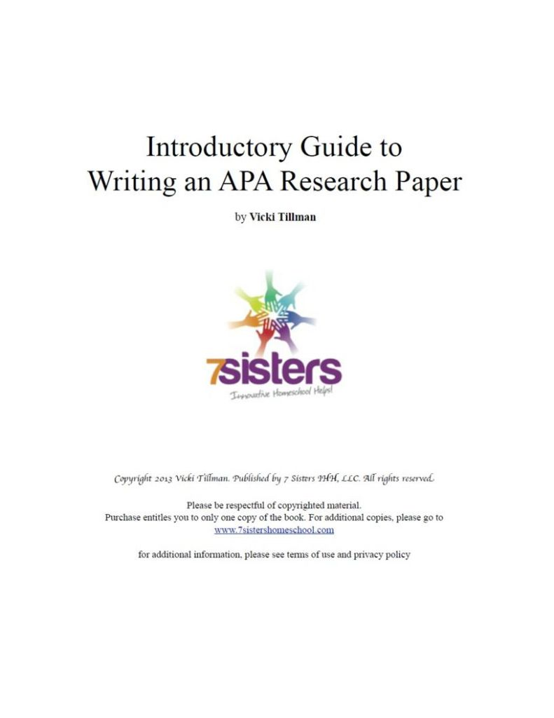 Excerpt from APA Research Introductory Guide