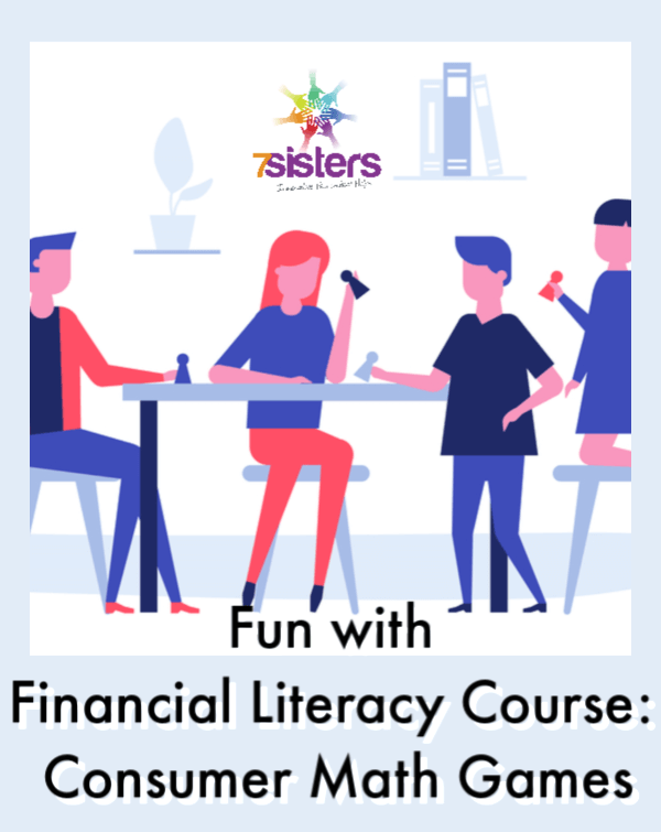 Enhance your teens' Financial Literacy course with some Consumer Math Games. A little homeschool educational fun makes high school courses more memorable! Here are some game ideas. #HomeschoolHighSchool #FinancialLiteracy #ConsumerMathGames