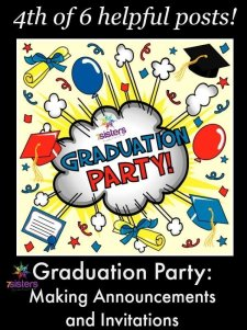 Graduation Party: Announcements and Invitations 7SistersHomeschool.com
