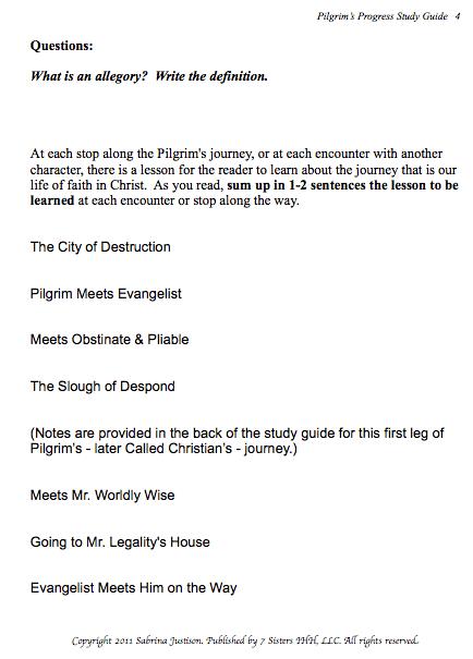 Excerpt from Pilgrim's Progress Study Guide