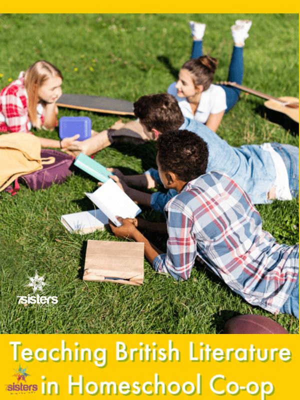 Teaching British Literature - Help for Your Homeschool (or Group!) Syllabus ideas for British Literature in Homeschool Co-op or for individual work. #HomeschoolHighSchool #HomeschoolCoOp #HomeschoolBritishLiterature #HomeschoolEnglishCourse #SyllabusForBritishLiterature